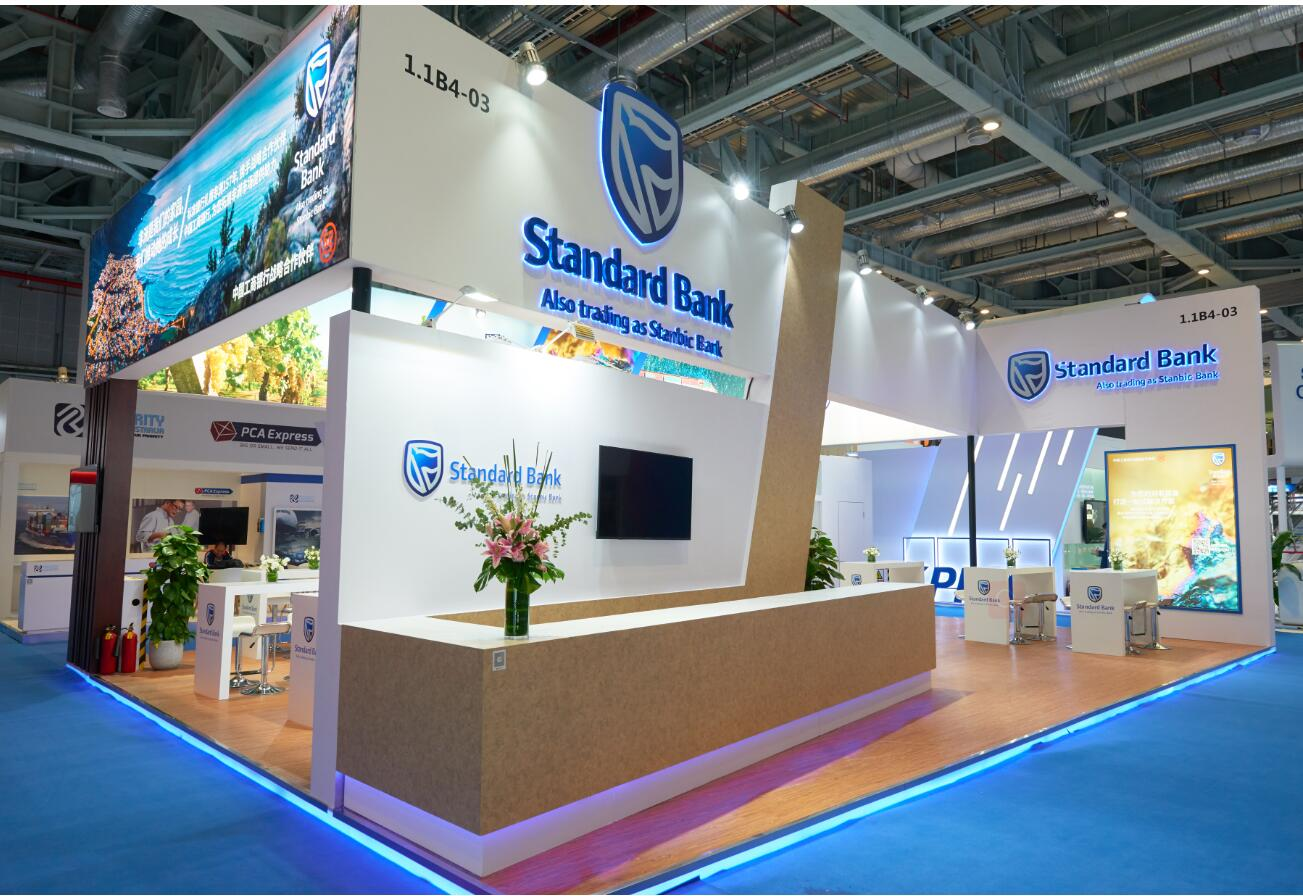 CIIE stand builder for Standard Bank
