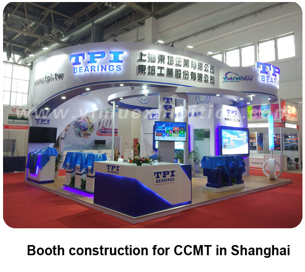 Trade show booth construction for CCMT in Shanghai